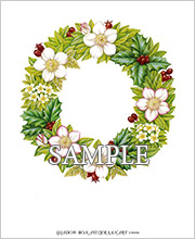 クリスマスのリース